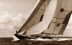Classic Yacht Photography in Sepia